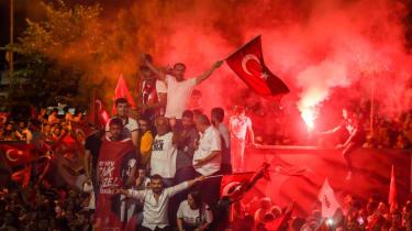 Turkey election celebration