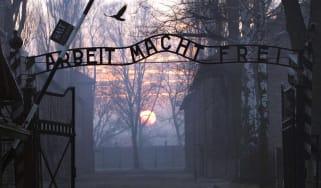 Auschwitz gates Holocaust
