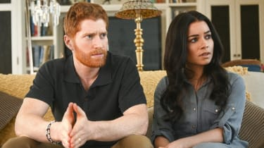 A still from Harry & Meghan: Escaping the Palace