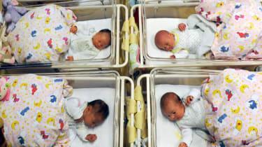 Newborn babies at hospital