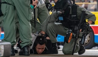 Hong Kong protester arrested