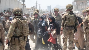British troops involved in the evacuation at Kabul airport