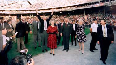 George H.W. Bush, Barbara Bush, the Queen and Prince Philip