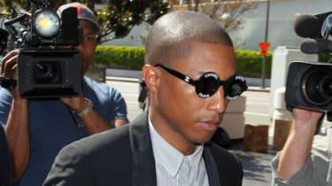 Pharrell Williams arrives in court