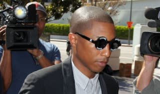Pharrell Williams arrives in court