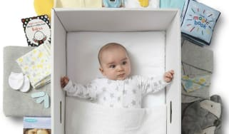 A baby in a box