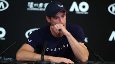 Andy Murray was in tears during his press conference at the Australian Open