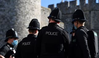 Police officers outside Windsor Castle