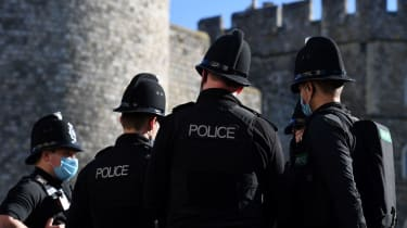 Police officers outside Windsor Castle