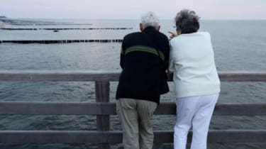 Two pensioners at waterside