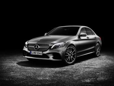 Mercedes-Benz C-Klasse Limousine AMG-Line, Exterieur: designo selenitgrau magno, Interieur: Leder platinweiß pearl/schwarz Mercedes-Benz C-Class Sedan AMG line, exterior: designo selenite gre