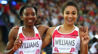 Jodie Williams (R) and Bianca Williams (L)