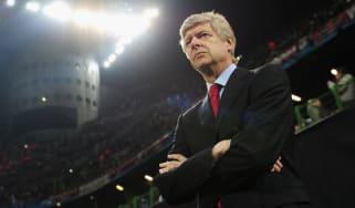 Arsene Wenger, AC Milan v Arsenal