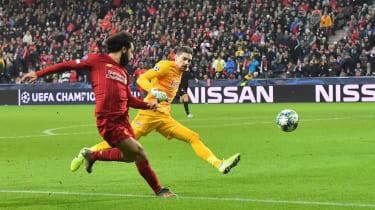 Mohamed Salah scored Liverpool's second goal in their 2-0 win against Red Bull Salzburg