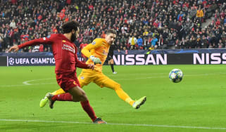 Mohamed Salah scored Liverpool's second goal in their 2-0 win against Red Bull Salzburg
