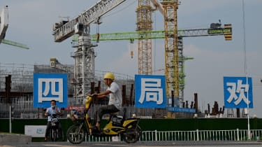 Construction work in Guangzhou, China