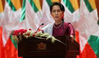 Aung San Suu Kyi gives her first public address on the Rohingya crisis