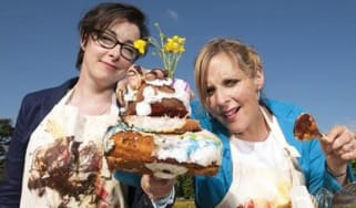 Great British Bake Off presenters Mel and Sue