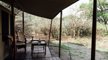 Guest tent at Kuro in Katavi National Park, Tanzania