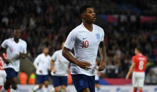 Marcus Rashford England 1 Switzerland 0 Leicester