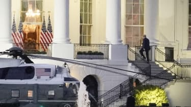 Donald Trump returns to the White House after his hospitalisation at Walter Reed military hospital