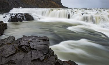 GULFOSSI, ICELAND - 10 OCTOBER: Gullfoss Falls are seen near to Selfoss, Iceland. (Photo by Alexander Scheuber/Getty Images).