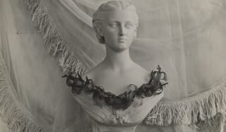 Bust with a necklace of lilies by Constance Spry, c.1935 (RHS Lindley Collections)