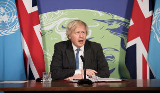 Boris Johnson chairs a session of the UN Security Council