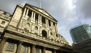 The Bank of England based on Threadneedle Street is set to raise rates today