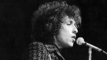 American rock and folk musician Bob Dylan in May 1966