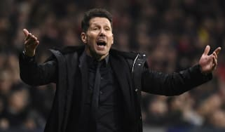 Atletico Madrid head coach Diego Simeone gestures during win against Juventus