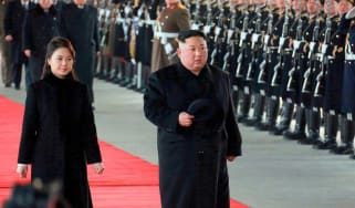 Kim Jong-un and his wife Ri Sol-ju have arrived in China for talks with Xi Jinping