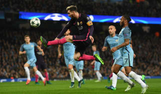 Barcelona striker Lionel Messi was a transfer target for Manchester City