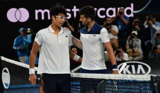 Hyeon Chung Novak Djokovic Australian Open tennis