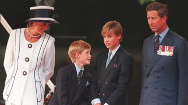 William, Harry, Diana and Charles in 1995