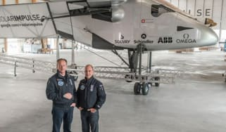 Solar Impulse pilots Bertrand Piccard and Andre Borschberg