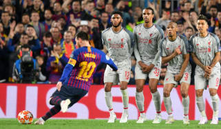Barcelona star Lionel Messi scored a sensational free-kick against Liverpool