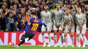 Barcelona star Lionel Messi scored a sensational free-kick against Liverpool