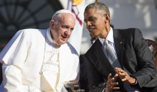 Pope Francis and Barack Obama