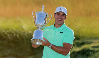 Brooks Koepka with the US Open trophy