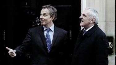 Tony Blair and Bertie Ahern, the Irish PM