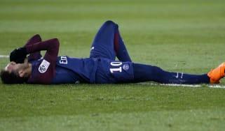 Neymar injured PSG Real Madrid Champions League