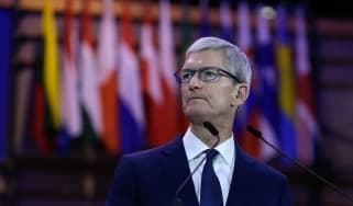 Apple chief executive Tim Cook has written to shareholders about a drop in sales