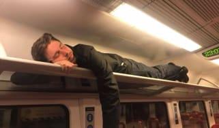 Stranded train passenger