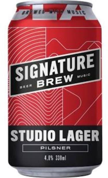 Signature Brew Studio Lager 4%