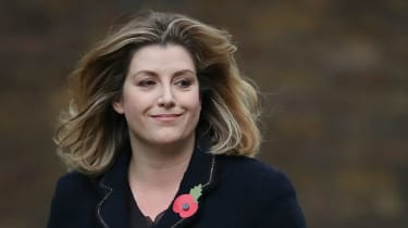 Penny Mordaunt arrives at Downing Street