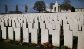 Graves from the First World War in Belgium