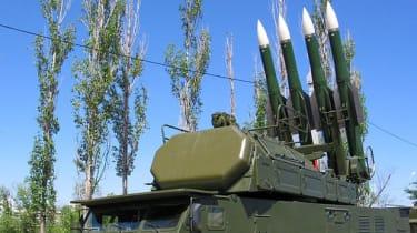 Buk missile launchers
