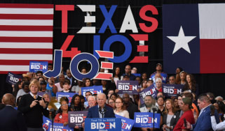 Joe Biden campaigning in Texas