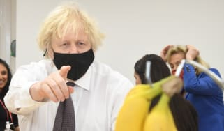 Boris Johnson on a visit to Monkey Puzzle Nursery, London
